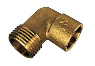 Coude laiton fer/cuivre 92GCU mâle diam.15x21mm à souder diam.14mm 1 pièce - Gedimat.fr
