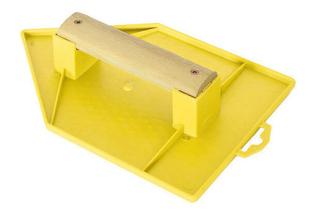 Taloche plateau pointu ABS poignée bois larg.18cm long.27cm jaune - Gedimat.fr