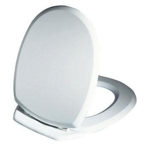 Abattant WC en bois compressé ELLIPSE 2kg charnières ABS blanc - Gedimat.fr