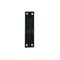 Gond plat bout carré verticale en acier diam.14mm cataphorèse noir - Gedimat.fr