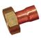 Raccord 2 pièces droit cuivre écrou laiton brut à emboiture 359GCI femelle à visser diam.26x34 mm pour tube cuivre diam.22mm en vrac 1 pièce - Gedimat.fr