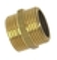 Mamelon laiton 280 égal mâle mâle diam.15x21mm long.22mm alésage 14,5mm en vrac - Gedimat.fr