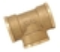Té laiton brut femelle femelle à visser réf.130 diam.15x21mm en vrac 1 pièce - Gedimat.fr