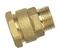 Raccord laiton brut droit mâle à visser diam.26x34mm pour tube polyéthylène diam.32mm en vrac 1 pièce - Gedimat.fr