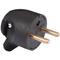 Fiche électrique sortie latérale mâle 2 pôles + terre 16A coloris noir - Gedimat.fr