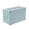 Boîte de dérivation électrique étanche IP55 rectangulaire long.170mm larg.105mm haut.70mm coloris gris - Gedimat.fr