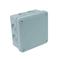 Boite de dérivation électrique étanche classe II coloris gris carrée dim.105x105mm haut.55mm sous film 1 pièce - Gedimat.fr