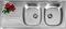 Evier à encastrer 2 bacs + 1 égouttoir SPARTA en inox larg.50cm long.1,16m - Gedimat.fr