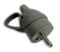 Fiche de branchement électrique plastique à anneau mâle 2 pôles + terre 16A sortie droite coloris gris - Gedimat.fr