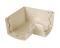 Angle intérieur pour gouttière PVC corniche moulurée NICOLL OVATION 28 AIC28S angle 90° coloris sable - Gedimat.fr