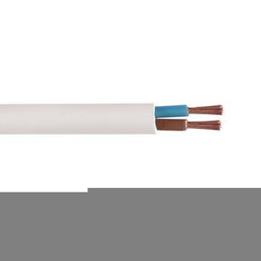 Câble électrique méplat H03VHH2F section 2x0,75mm² coloris blanc vendu à la coupe au ml - Gedimat.fr