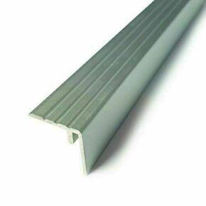 Nez de marche aluminium prof.25 mm haut.24 mm long.27 cm finition coloris argent - Gedimat.fr