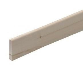 Plinthe Chêne bord arrondi section 10x110mm long.2,40m - Gedimat.fr
