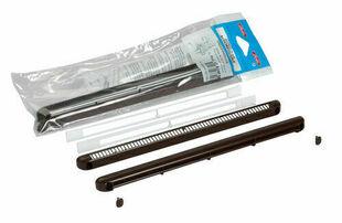 Entrée d'air aéraulique pour mortaise NICOLL long.250mm haut.12mm en kit complet pour menuiserie coloris marron - Gedimat.fr