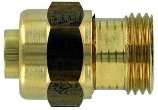 Raccord union laiton à compression mâle à visser diam.15x21mm pour tube polyéthylène réticulé diam.12mm sous coque de 1 pièce - Gedimat.fr