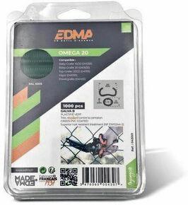 Agrafes galvanisées plastifiées vert OMEGA 20 boîte de 1000 pièces - Gedimat.fr