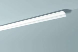 Moulure extrudée en polystyrène haute densité 50x50mm long.2,00m ton blanc - Gedimat.fr
