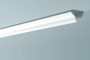 Moulure extrudée en polystyrène haute densité 80x80mm long.2,00m ton blanc - Gedimat.fr