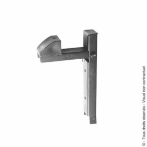 Arrêt de portail à sceller H.250mm pour épaisseur de 30 à 70 mm Zingué blanc - Gedimat.fr