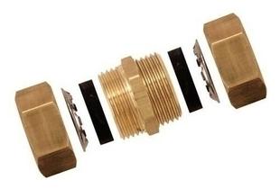 Raccord union laiton brut à joint mixte gripp égal pour tube cuivre diam.14mm en vrac 1 pièce - Gedimat.fr