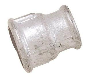Manchon acier galvanisé 240 femelle diam.20x27mm réduit femelle diam.15x21mm en vrac 1 pièce - Gedimat.fr