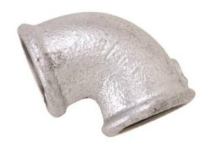 Coude acier galvanisé femelle femelle égal petit rayon réf.90 diam.20x27mm en vrac 1 pièce - Gedimat.fr