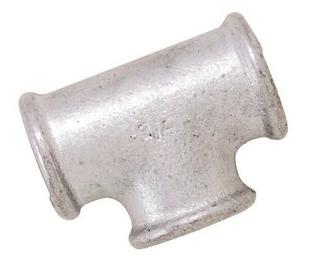 Té acier galvanisé 240 femelle femelle diam.33x42mm en vrac 1 pièce - Gedimat.fr