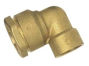 Coude laiton égal femelle 15x21 pour raccord tuyau diam.25mm - Gedimat.fr
