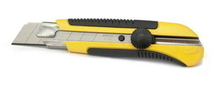 Cutter corps bi-matière DYNAGRIP guide inox lame 25mm - Gedimat.fr