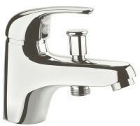 Mitigeur bain-douche monotrou LETO en laiton finition chromée - Gedimat.fr