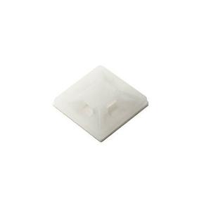 Embase adhésive pour collier de fixation larg.3,6mm en sachet de 25 pièces - Gedimat.fr