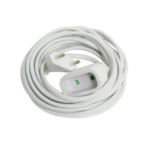 Rallonge électrique simple 2 pôles 6A coloris blanc long.5m - Gedimat.fr