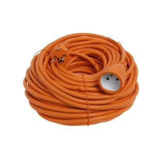 Rallonge prolongateur de jardin 2 pôles + terre 16A avec câble d'alimentation rond coloris orange câble H05VVF 3G1,5mm² long.40m sous film de 1 pièce - Gedimat.fr