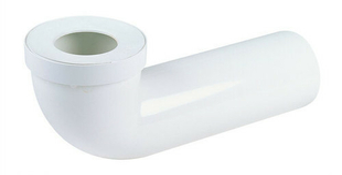 Pipe de sortie de cuvette WC NICOLL PVC longue avec entrée à joint diam.85/107mm sortie mâle diam.100mm long.350mm coloris blanc - Gedimat.fr