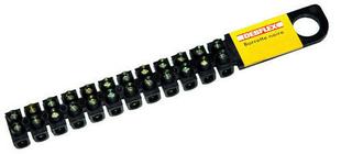 Barette de connexion électrique capacité 25mm² coloris noir barrette de 10 bornes - Gedimat.fr