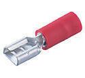 Cosse électrique à clips femelle pré-isolé larg.6,3mm ép.0,8mm 10 pièces coloris rouge - Gedimat.fr