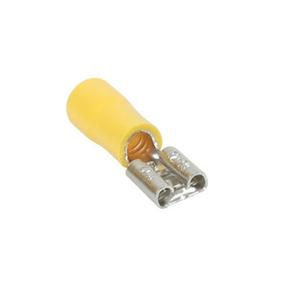 Cosse électrique à clips femelle pré-isolé larg.6,3mm ép.0,8mm 10 pièces coloris Jaune - Gedimat.fr