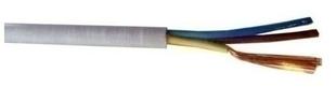 Câble électrique souple H05VVF section 3G1,5mm² coloris gris vendu à la coupe au ml - Gedimat.fr