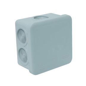 Boite de dérivation électrique étanche classe II coloris gris carrée dim.80x80mm haut.45mm sous film 1 pièce - Gedimat.fr
