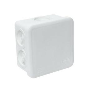 Boite de dérivation électrique étanche classe II coloris blanc carrée dim.80x80mm haut.45mm sous film 1 pièce - Gedimat.fr