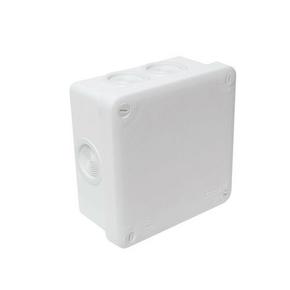 Boite de dérivation électrique étanche classe II coloris blanc carrée dim.105x105mm haut.55mm sous film 1 pièce - Gedimat.fr