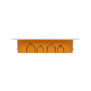 Boîte de dérivation électrique avec couvercle blanc pour cloison sèche dim.170x110mm prof.40mm coloris orange - Gedimat.fr