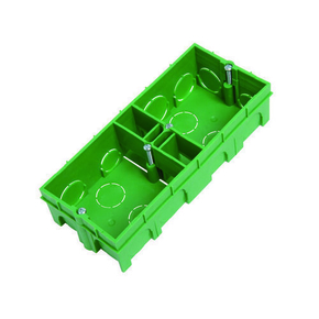 Boîte d'encastrement 2 postes à sceller colorisvert larg.75mm haut.40mm sous film 1 pièce - Gedimat.fr