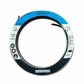 Câble électrique unifilaire cuivre H07VU section 1,5mm² coloris noir en bobine de 5m - Gedimat.fr