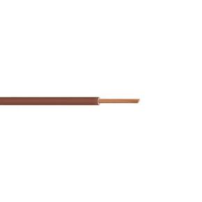 Câble électrique unifilaire cuivre H07VU section 1,5mm² coloris marron en bobine de 10m - Gedimat.fr