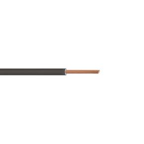 Câble électrique unifilaire cuivre H07VU section 2,5mm² coloris noir en bobine de 10m - Gedimat.fr