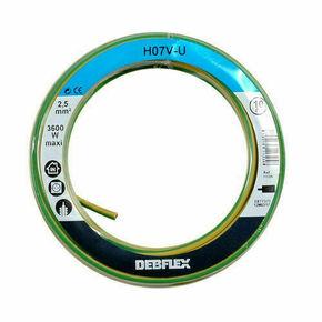 Câble électrique unifilaire cuivre H07VU section 2,5mm² coloris vert-jaune en bobine de 10m - Gedimat.fr