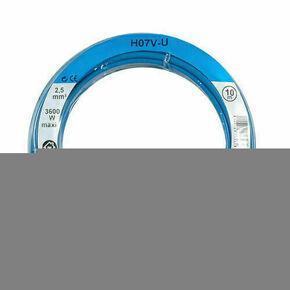 Câble électrique unifilaire cuivre H07VU section 2,5mm² coloris bleu en bobine de 10m - Gedimat.fr