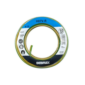 Câble électrique unifilaire cuivre H07VU section 6mm² coloris vert-jaune en bobine de 10m - Gedimat.fr