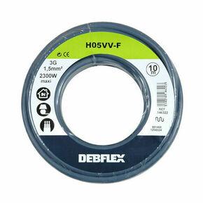 Câble électrique souple H05VVF section 3G1,5mm² coloris gris en bobine de 10m - Gedimat.fr